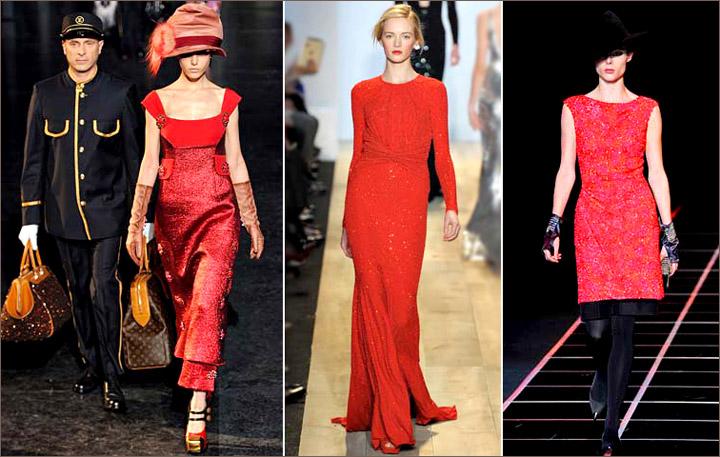 Красное платье ненавязчивый блеск