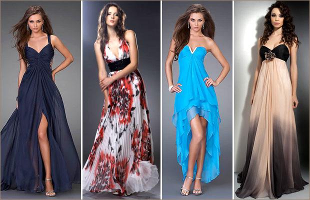 Длинные платья для выпускного