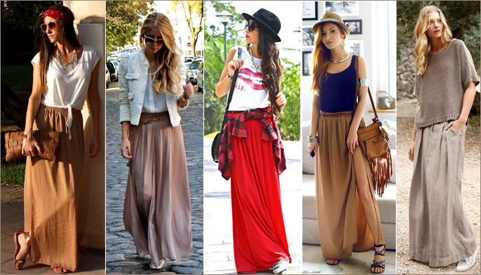 Балетка и длинная юбка