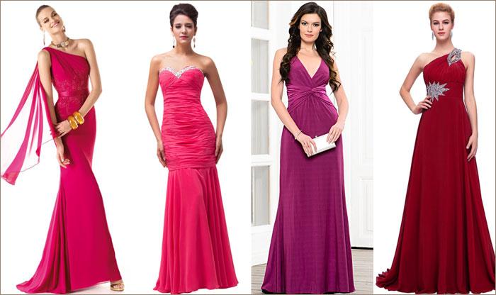 Платья цвета фуксия на свадьбу