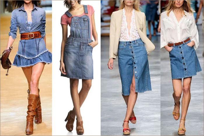 В новом сезоне необычайно популярны джинсовые юбки, особенно короткие.