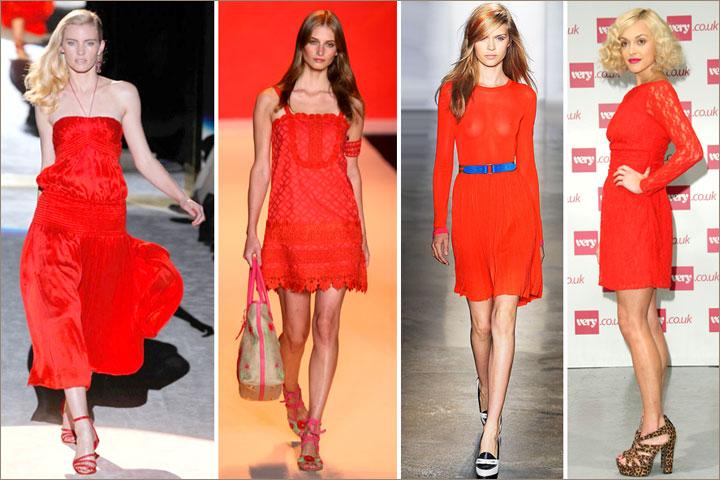 Какие ногти накрасить под красное платье