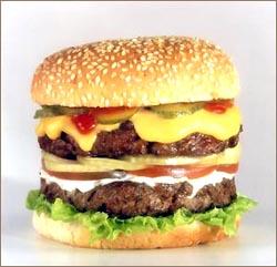 Гамбургер, король фастфуда