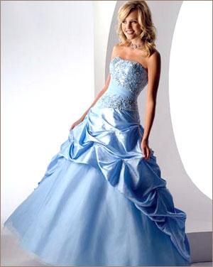 Голубое свадебное платье | Вечерние