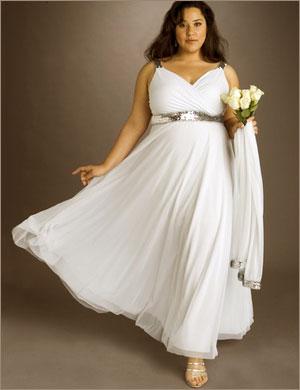 Фото свадебного платья на полную фигуру