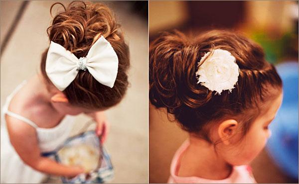 Детские нарядные прически на короткие волосы